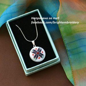 медальон елбетица синя