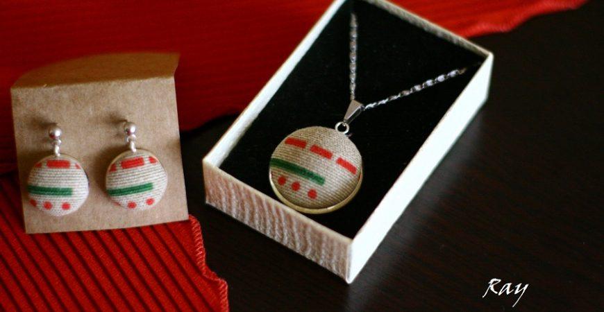 Комплект накити от текстил