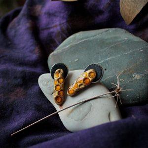 Обици от полимерна глина